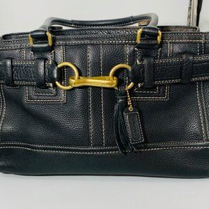 Coach Hampton Leather Satchel, F06S-10212